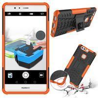 Outdoor odolný obal se stojánkem na Huawei P9 Plus - oranžový