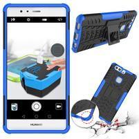 Outdoor odolný obal se stojánkem na Huawei P9 Plus - modrý