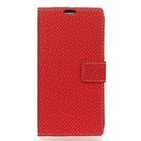 Wall PU kožené peněženkové pouzdro pro Huawei Y3 (2018) - červené