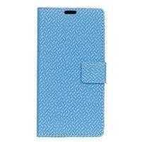 Wall PU kožené peněženkové pouzdro pro Huawei Y3 (2018) - modré