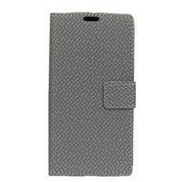 Wall PU kožené peněženkové pouzdro pro Huawei Y3 (2018) - šedé