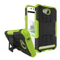 Outdoor odolný obal na mobil Huawei Y3 II - zelený