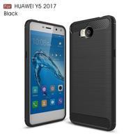 Carbo odolný obal na mobil Huawei Y6 (2017) - černý