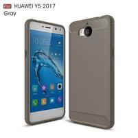 Carbo odolný obal na mobil Huawei Y6 (2017) - šedý