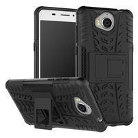 Outdoor 2v1 odolný obal na mobil Huawei Y6 (2017) - černý