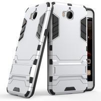 Defender odolný obal na Huawei Y6 (2017) - stříbrný