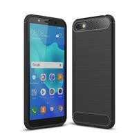Fiber odolný silikonový obal pro Huawei Y5 (2018) - černý