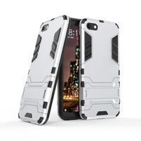 Kick odolný hybridní kryt na mobil Huawei Y5 (2018) - stříbrný