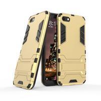 Kick odolný hybridní kryt na mobil Huawei Y5 (2018) - zlatý