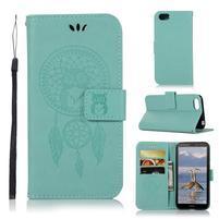 Dream PU kožené peněženkové pouzdro na mobil Huawei Y5 (2018) - zelené