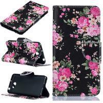 Printy zapínací peněženkové pouzdro na Huawei Y5 II - flowers