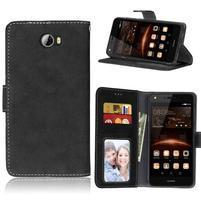 Matty PU kožené pouzdro na mobil Huawei Y5 II - černé