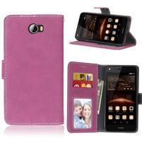 Matty PU kožené pouzdro na mobil Huawei Y5 II - rose