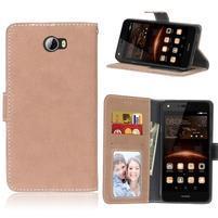 Matty PU kožené pouzdro na mobil Huawei Y5 II - khaki