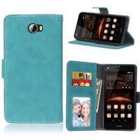 Matty PU kožené pouzdro na mobil Huawei Y5 II - modré