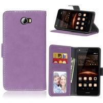 Matty PU kožené pouzdro na mobil Huawei Y5 II - fialové