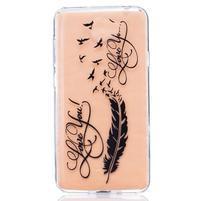 Emboss gelový obal na mobil Huawei Y5 II - pírko