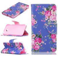 Patty peněženkové pouzdro na mobil Huawei Y5 II - květy
