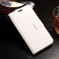 Standy PU kožené pouzdro na Huawei Y6 II Compact - bílé