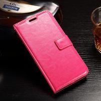 Standy PU kožené pouzdro na Huawei Y6 II Compact - rose