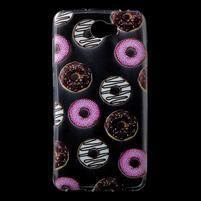 Softy gelový obal na mobil Huawei Y6 II Compact - donutky