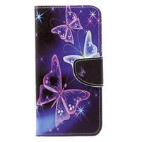 Emotive zapínacie knižkové puzdro na Huawei Y7 - čarovné motýliky
