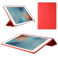 Tripass PU kožené polohovatelné pouzdro na iPad Pro 10.5 - červené