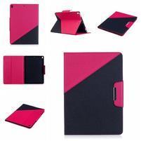 Duocolory PU kožené pouzdro na iPad Pro 10.5 - rose