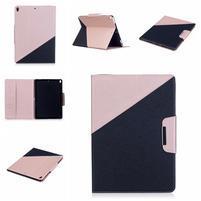 Duocolory PU kožené pouzdro na iPad Pro 10.5 - růžovozlaté