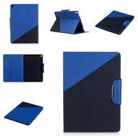 Duocolory PU kožené puzdro na iPad Pro 10.5 - tmavomodré