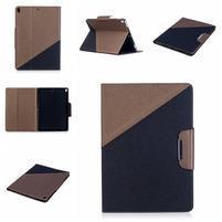 Duocolory PU kožené pouzdro na iPad Pro 10.5 - hnědé