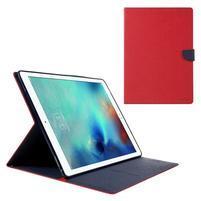 Diary PU kožené pouzdro na iPad Pro 12.9 - červené
