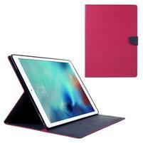 Diary PU kožené pouzdro na iPad Pro 12.9 - rose