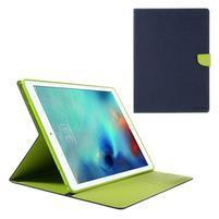 Diary PU kožené pouzdro na iPad Pro 12.9 - tmavěmodré