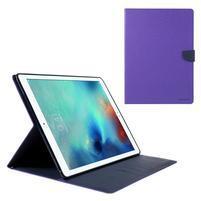 Diary PU kožené pouzdro na iPad Pro 12.9 - fialové