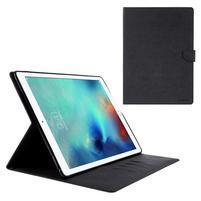 Diary PU kožené pouzdro na iPad Pro 12.9 - černé