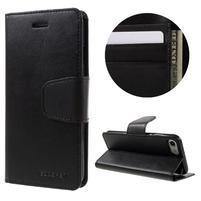 Sonata PU kožené pouzdro na mobil iPhone 7 - černé