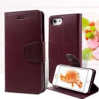 Sonata PU kožené pouzdro na mobil iPhone 7 - vínové