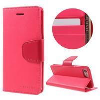 Sonata PU kožené pouzdro na mobil iPhone 7 - rose