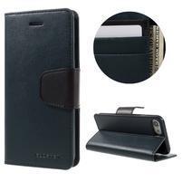 Sonata PU kožené pouzdro na mobil iPhone 7 a iPhone 8 - tmavěmodré