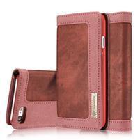 Cases stylové textilní pouzdro na iPhone 8 a iPhone 7 - červené