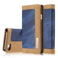Cases stylové textilní pouzdro na iPhone 8 a iPhone 7 - modré