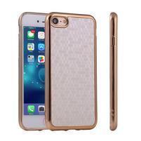 Luxury gelový obal na iPhone 8 a iPhone 7 - stříbrný