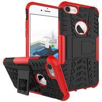 Outdoor odolný obal na mobil iPhone 7 a iPhone 8 - červený