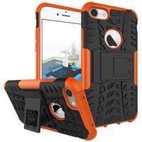 Outdoor odolný obal na mobil iPhone 7 a iPhone 8 - oranžový