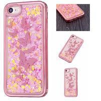 Sweet přesýpací gelový obal na iPhone 8 a iPhone 7 - motýlkové