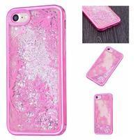Sweet přesýpací gelový obal na iPhone 8 a iPhone 7 - květinky