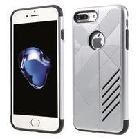 Armory odolný obal na mobil iPhone 8 Plus a iPhone 7 Plus - stříbrný
