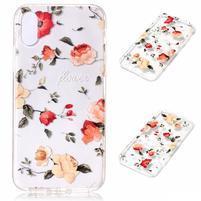 Bossi gelový obal na mobil iPhone X - růže
