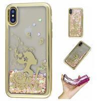 Candy přesýpací gelový obal na iPhone X - dívka